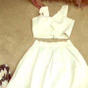 White bandage two piece dress!